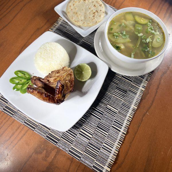 Sopa De Gallina Asada(Chicken Soup)